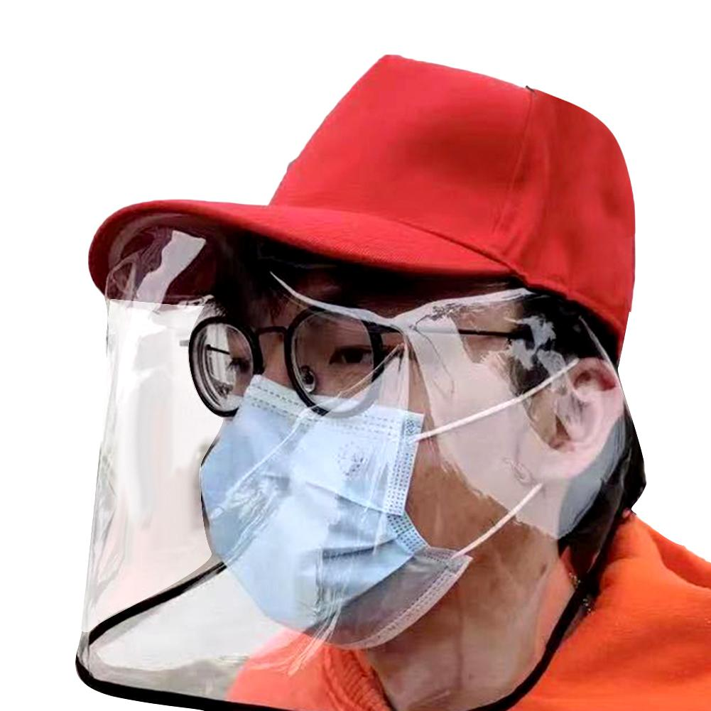 Men Anti Droplet Dust Proof Protective Face Shield Cover Baseball Hat Peaked Cap