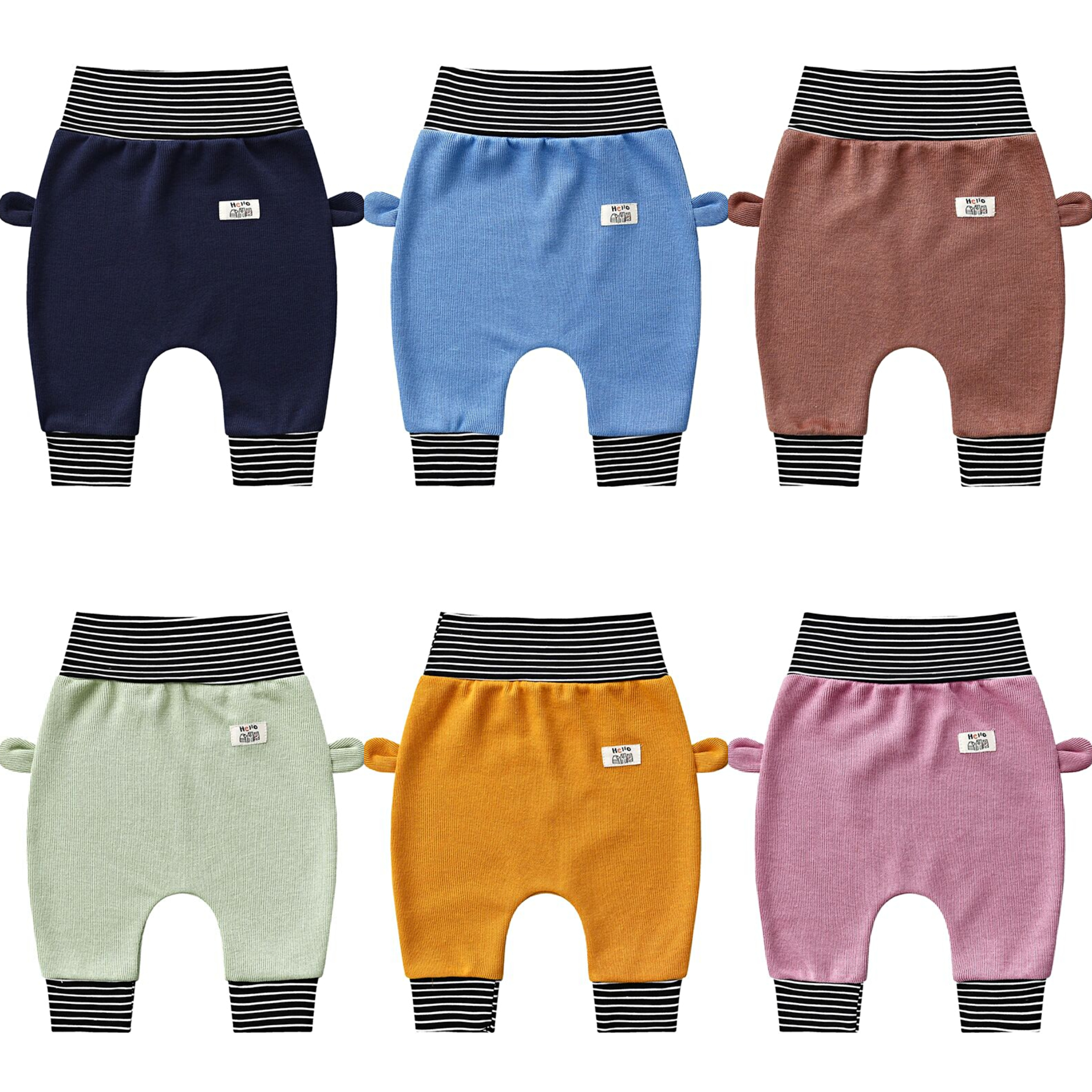 Baby cute pants Fashion knitting boys girl high waist protection belly children toddler spring autumn newborn infant trousers