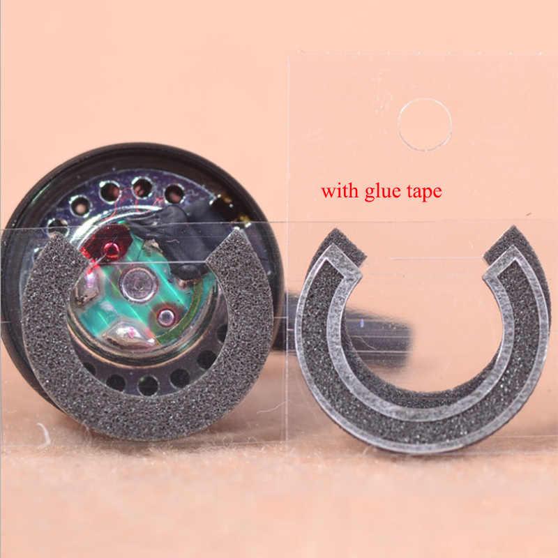 20 ピース/ロットフラットヘッドホンチューニング綿のセット 14.8 ミリメートル 15 ミリメートル 16 ミリメートルドライバー用 MX500 のりテープ吸音綿