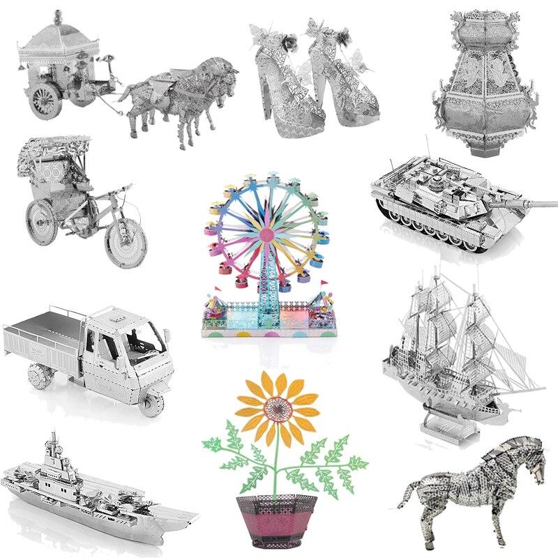 TOY 3D Metal Model Puzzle Multiple Styles DIY Children's Jigsaw Puzzle Kit Intellectual Development Adult Children's Education