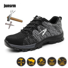 Work-Boots Safety-Shoes Industrial Outdoor Protect-Feet Steel-Sole Construction Breathable