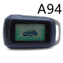 Llavero A94 para llavero versión rusa, sistema de alarma para coche de 2 vías, Starline A94 LCD, cadena de llave de Control remoto