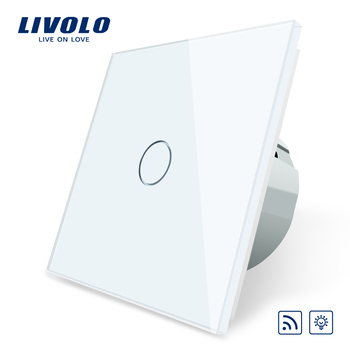 Livolo EU Standard Switch,220~250V ,Remote and Dimmer function Wall Light Switch,C701DR-1/2/3/5 (No remote controller ),no logo livolo eu standard remote switch 220 250v wall light remote touch switch vl c701r 15 without any remote controller