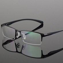 HOTOCHKI Titan IP Elektronische Überzug Legierung Metall Männer Brillen Rahmen Optische Gläser Rezept Männlichen Brillen Brillen