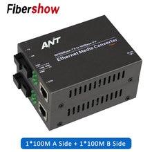 media converter fiber optical to rj45 UTP 1310/1550 fiber to ethernet switch fiber 10/100M Fibra Optica Transceiver