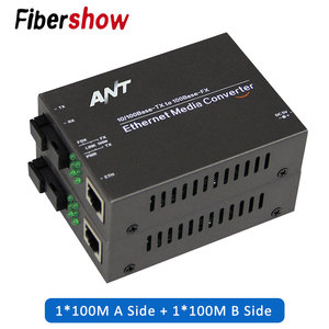media converter fiber optical to rj45 UTP 1310/1550 fiber to ethernet switch fiber 10/100M Fibra Optica Transceiver