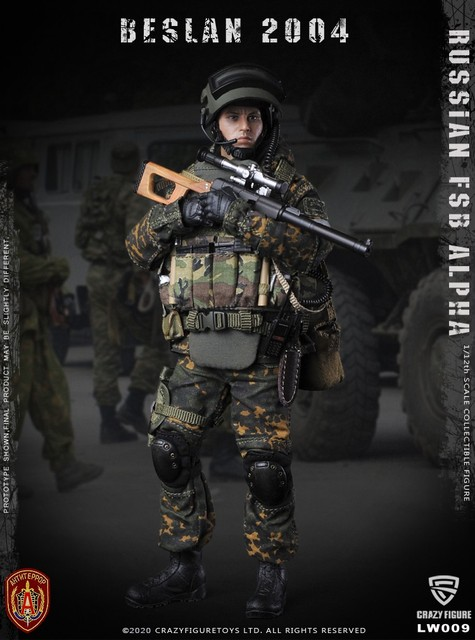 CrazyFigure LW009 Russian Alpha Special Forces Sniper 1/12 ACTION FIGURE