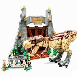 11338 Jurassic Film Serie Jurassic Park T. rex Rampage 3156Pcs Bricks Modell Gebäude Kits Blöcke Kompatibel Film 75936