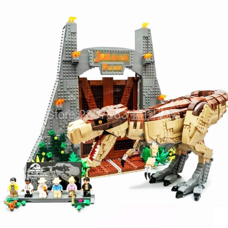 11338  Jurassic Movie Series Jurassic Park T. Rex Rampage 3156Pcs Bricks Model Building Kits Blocks Compatible Movie 75936