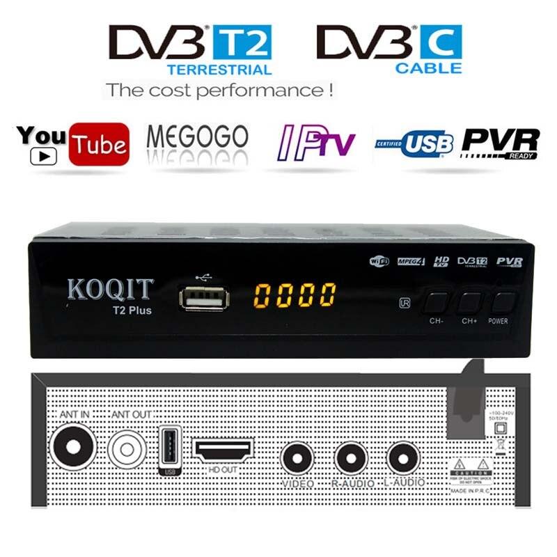 FTA HD 1080P Dual Tuner DVB-T2 DVB-C Cable Digital TV Box Prefix DVB-T2 Tuner DVB T2 Free TV Receiver Decoder Wifi IPTV Youtube