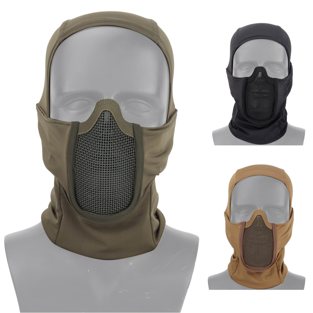 Airsoft Paintball Half Face Mesh Mask Military CS Protective Mask Shadow Fighter Headgear Outdoor Cycling Tactical Mask