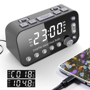 Image 5 - Portable DAB & FM Radio Digital Alarm Clock Dual USB Port Sleep Timer for Office Bedroom Mini Radio with 4 inch LED Display