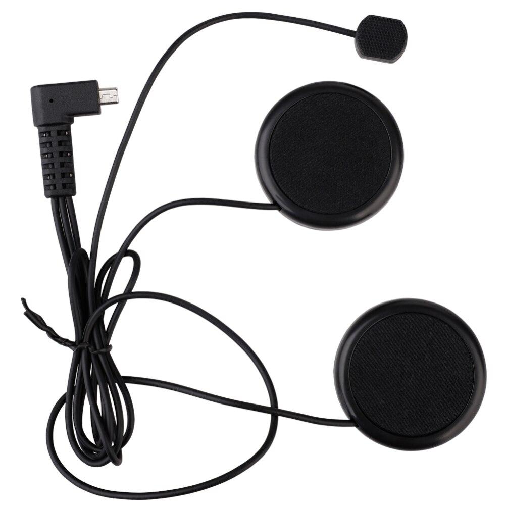 1PC Motorcycle Helmet Intercom Headsets Wired Motorbike Bluetooth Headsets 800M Intercom For TCOM-SC Soft Line Clip New