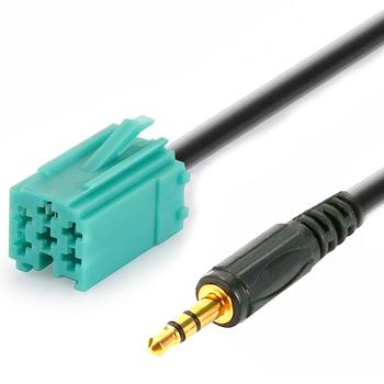 Samochody 3 5mm AUX CD Stereo linia audio kabel wejściowy dla Renault Clio Megane Espace Kangoo Laguna 2005 2006 2007 2008 2009 2010 2011 tanie i dobre opinie EAFC Audio Line Input Cable Other Car Audio Line Input Cable