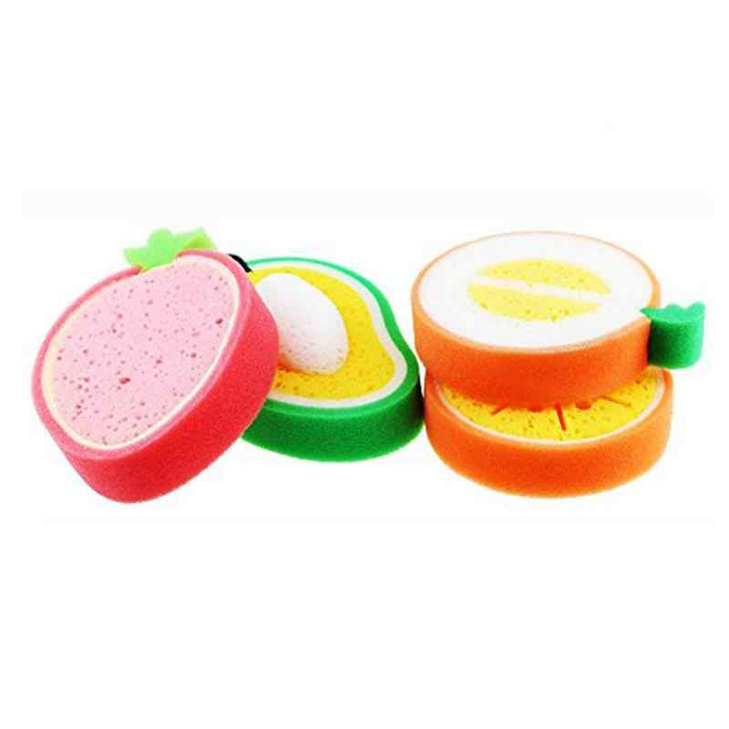 Melón de baño más bonito de 4pcs, fresa, naranja, loción de baño de mango es fácil de causar espuma, suave y no daña tu ba