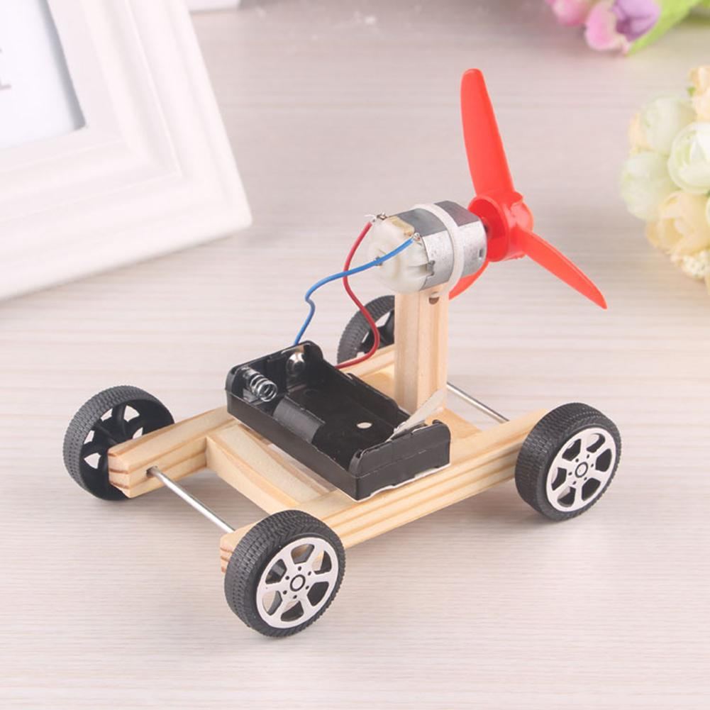 Electric DIY Toy Wind Car Model Wing Manual Science Experiment Educational Toy Children's Gift