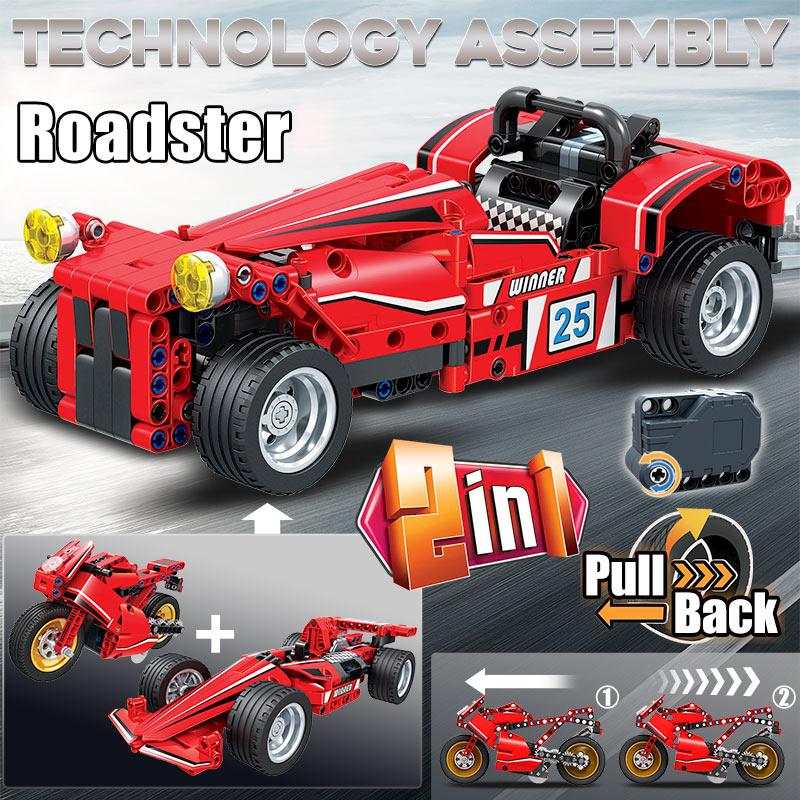 Winner City Roadster Pull Back Sports Car