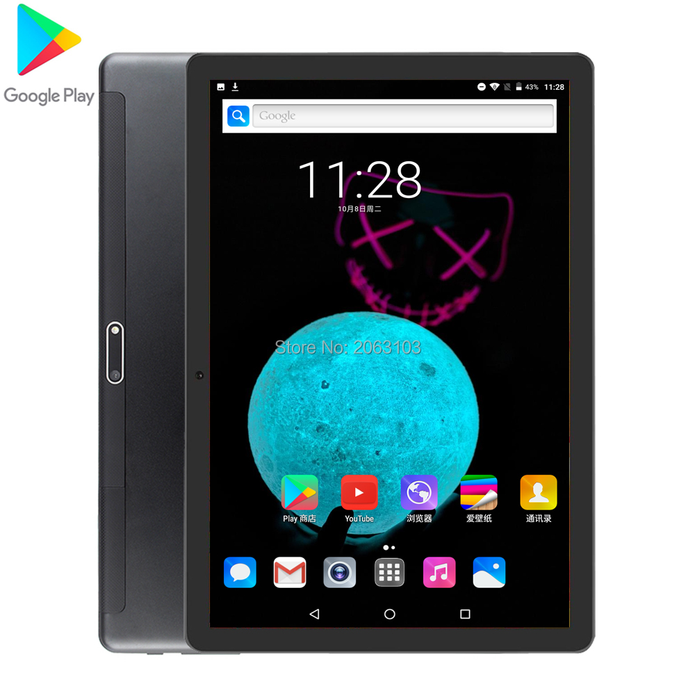 2GB + 32GB Tablet 2.5D Glass 10 Inch Tablet Android 7.0 Quad Core 1280x800 HD IPS 3G Phone GPS WIFI Pad 10 10.1 Gifts