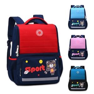 Image 2 - 2020 NEW Waterproof nylon Orthopedic Children School Bags boys girls Cartoon Prints Kids School Backpacks Mochila Infantil