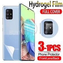 Protecteur d'écran, 1 à 3 pièces, Film Hydrogel pour Samsung Galaxy A51 A71 4G/5G