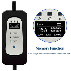 Image 2 - Ev 充電器タイプ 2 iec62196 タイプ 1 evse ev 充電ケーブル 16A eu プラグ電気自動車