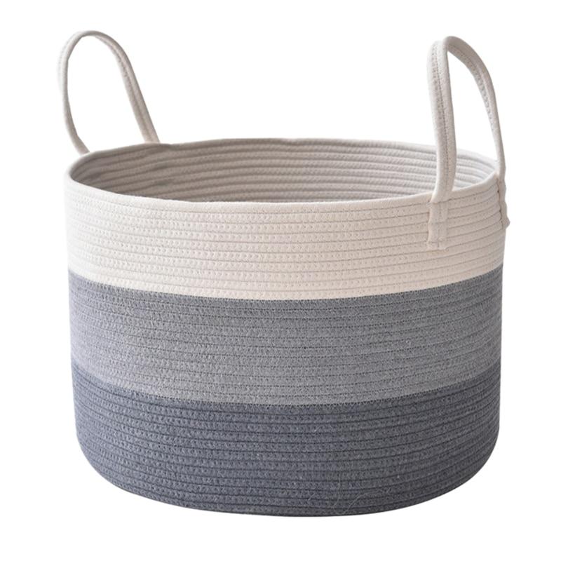 Cotton Rope Basket Laundry Blanket