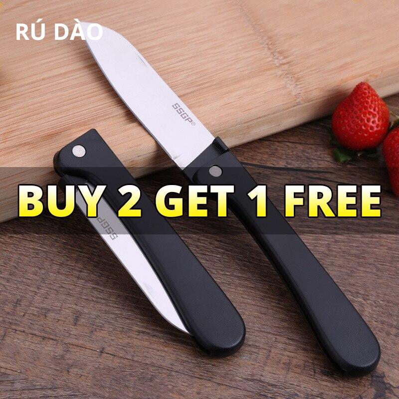 304 складной карманный нож для очистки овощей из нержавеющей стали, мини портативный складной нож для резки фруктов, кухонный нож, складной н...