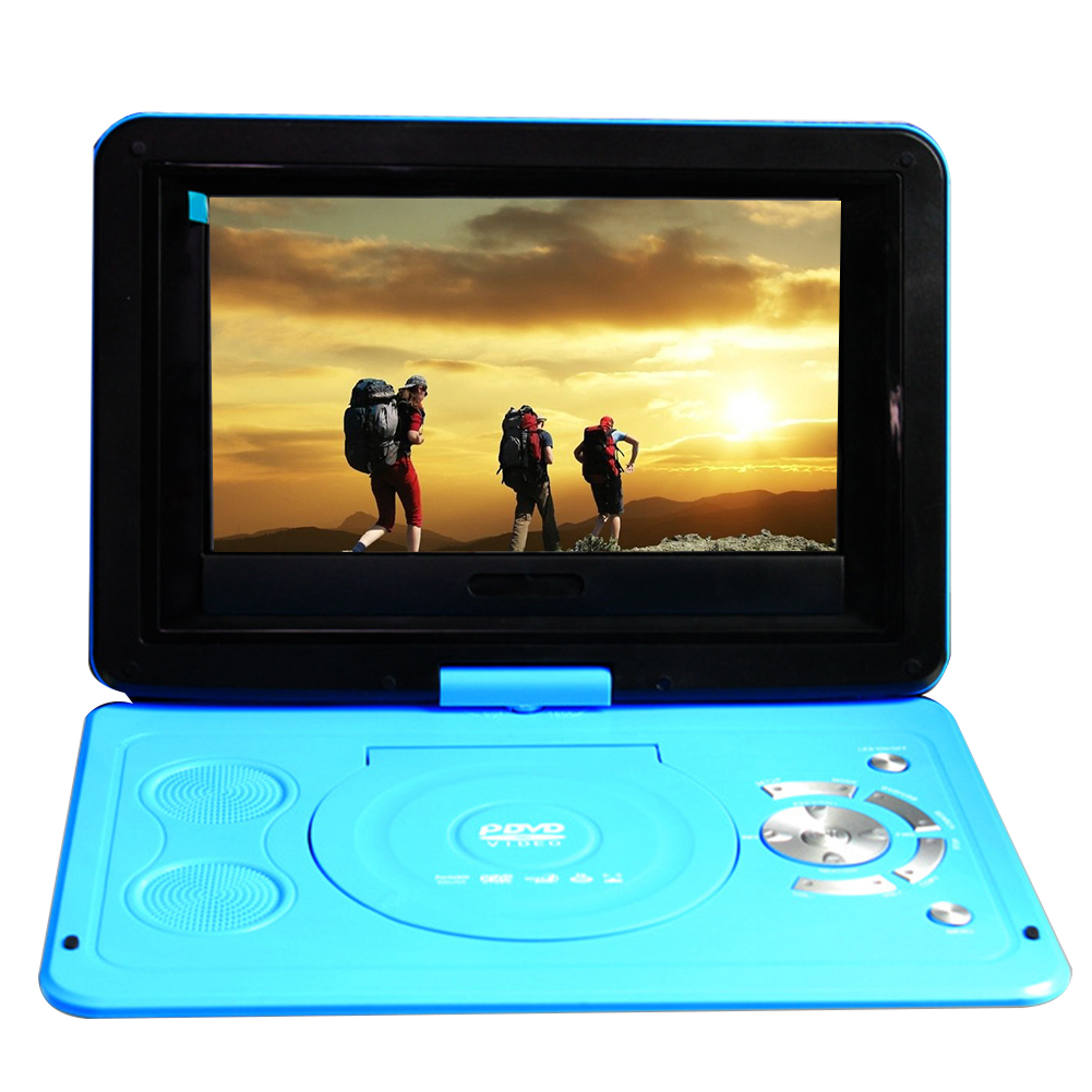Outdoor Portable 13.9inch USB HD LCD Swivel Screen Rechargeable Battery Mini Car DVD Player CD Home TV Game