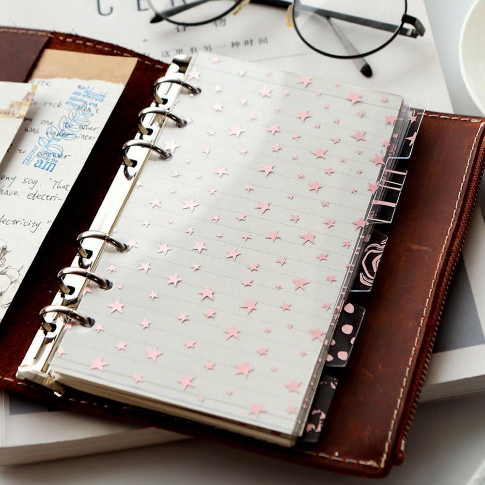 5Pcs/set  A6 Planner Divider Refill Notebook Journal Agenda Spiral Loose Leaf Creative Stationery Office School Supplies