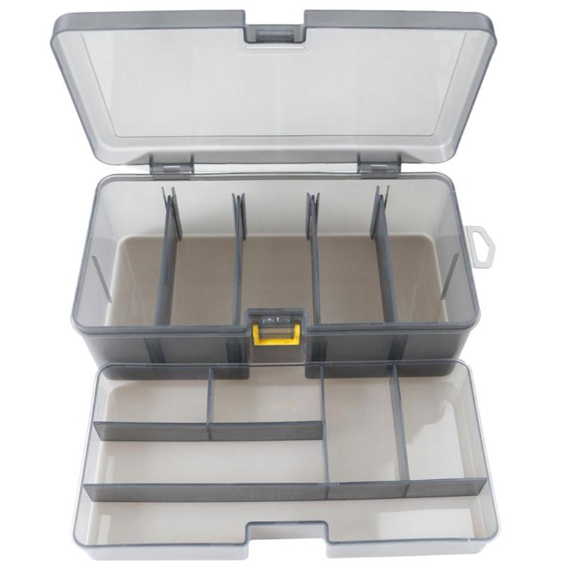 Dual Layer Fishing Tackle Box Accessories Lures Bait Storage Case Shrimp Boxes for Lure Cover Organizer Baits Pesca Container|  - title=