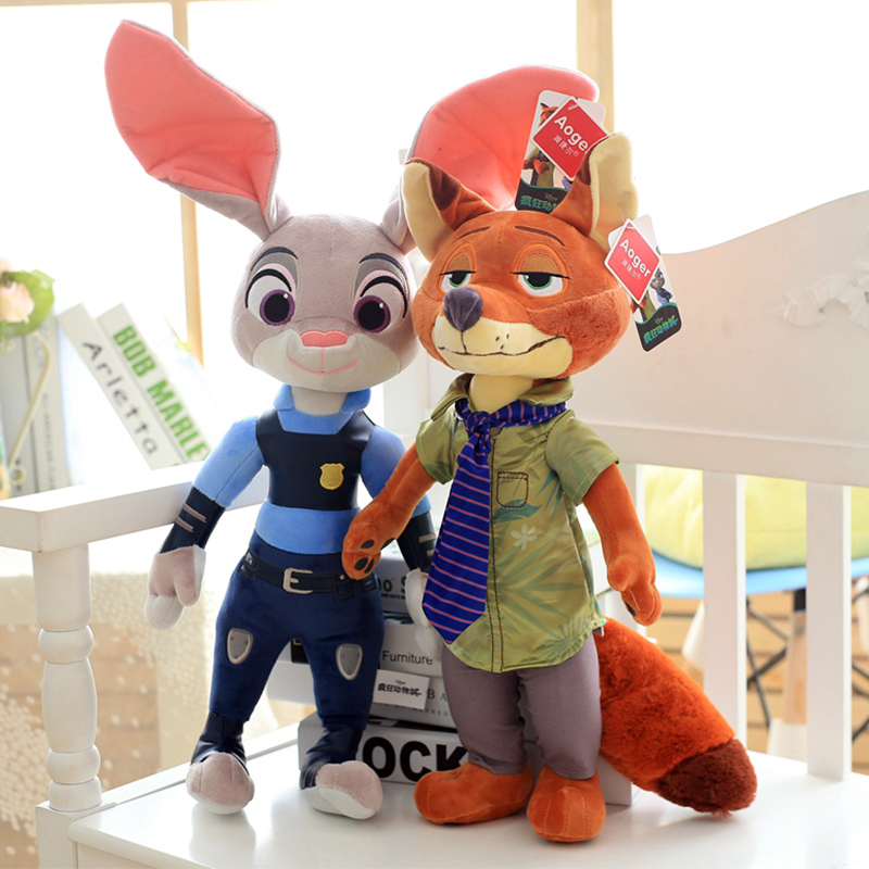 1pcs Zootopie Judy Hopps Nick Wilde Plush Toy Best Gift For Child Cute Rabbit Cool Fox Animals Doll Holiday Gift Birthday Gift