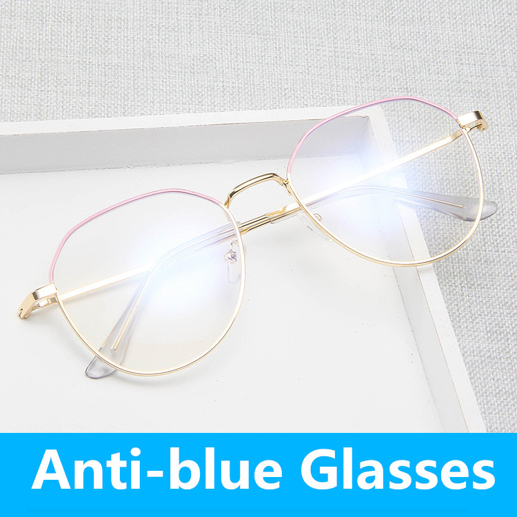 Vintage Metal Anti-blue Light Glasses Frame Retro Round Clear Eye Glasses Frame Men Student Prescription Glasses Women