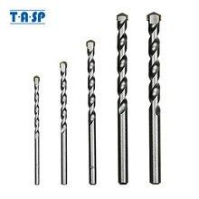 Tasp brocas de alvenaria, 5 peças de ponta de carboneto de tungstênio para perfuração de tijolo de concreto tamanho 4/5/6 acessórios de ferramentas elétricas/8/10mm