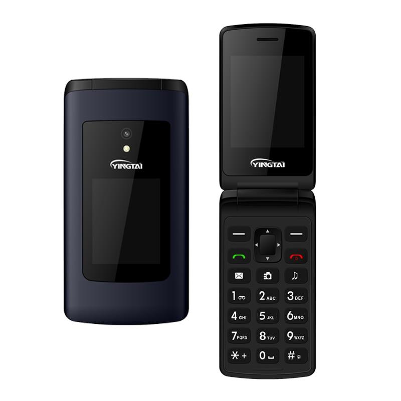 YINGTAI T30 мобильный телефон с откидной крышкой GSM Большой кнопочный мобильный телефон с двойным экраном с откидной крышкой с двумя сим-картами FM мобильный телефон с раскладушкой для пожилых людей