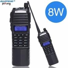 Baofeng UV 82 Plus 8W Alta Energia Da Bateria 3800mAh Com Conector DC Presunto walkie talkie de longo alcance Rádio Portátil CB Rádio