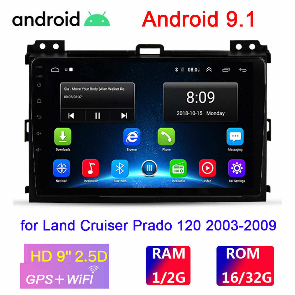 9inch Android 9.1 Car Multimedia Player For Honda Land Cruiser Prado 120 2003-2009 2Din Mobil Radio Auto stereo GPS Navigasi