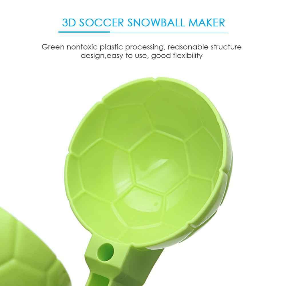 Zima Snowball Maker piasek foremka kula śnieżna 3D kształt piłki nożnej dzieciak zima odkryty kula śnieżna s piasek podejmowania kształt zabawka losowo