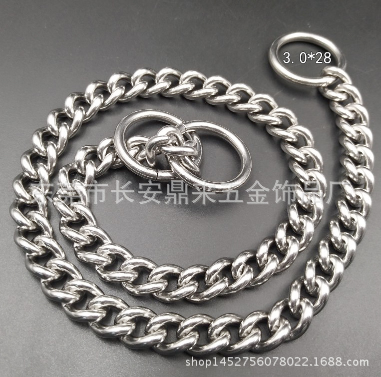 11mm Curb Necklace New Style Pet Supplies Stainless Steel Dog Chain Dog Collar