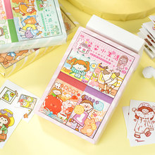 4 sztuk/partia kolekcja Sweetheart serii dekoracyjne papiernicze książki naklejki kawaii dziewczyna Scrapbooking DIY pamiętnik Album Stick label