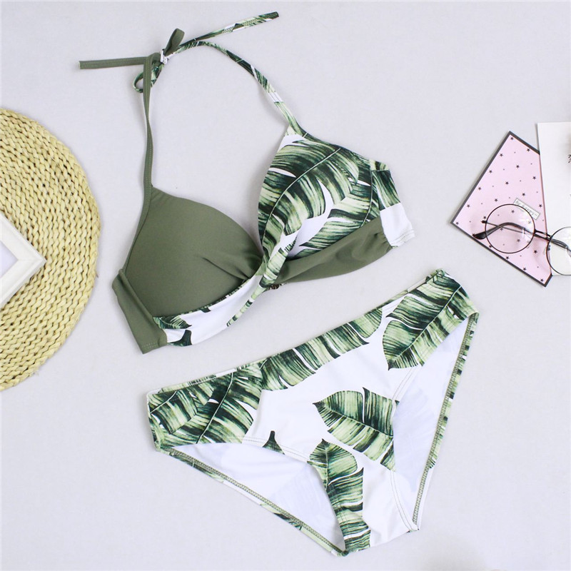 2019 Women Sexy Bikini Set Push Up Female Swimsuit Swimwear Swim Separate Two Piece Brazilian Bathing Suit Large Plus Size XXXL 2