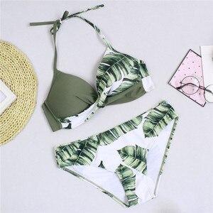 Image 2 - Conjunto de biquíni sensual feminino push up, roupa de banho estilo push up, maiô feminino, separado, duas peças, moda praia brasileiro, tamanho grande, 2020 xxxl, xxxl