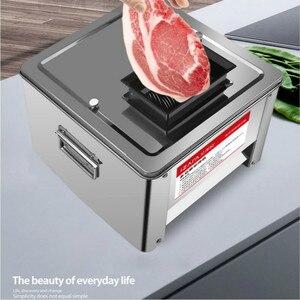 Image 4 - Rebanadora multifuncional para carne de acero inoxidable, cortadora comercial eléctrica, totalmente automática, pica en cubos, 850W