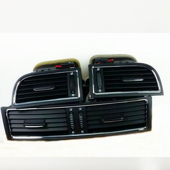 3 pcs/lots Chrome dashboard Heater Cold Air Conditioning Outlet Vent For Superb 3T0820951 3T0819701 3T0819702