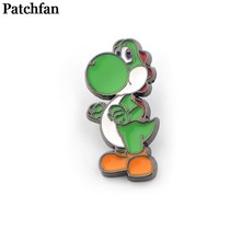 Patchfan super mario yoshi Broches mannen vrouwen Pride Zink Emaille Pinnen medaille Voor shirt rugzak kleren tas decoratie Badge A2307(China)