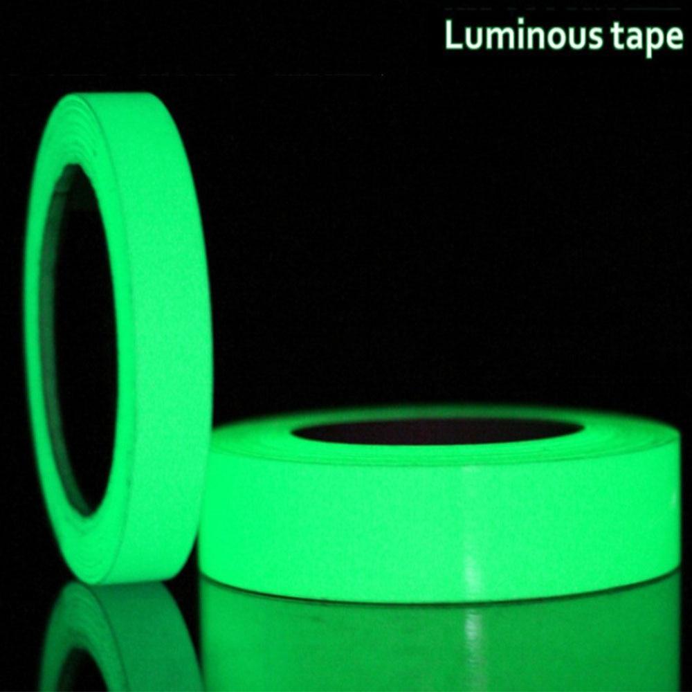 Luminous Tape Self Adhesive PET Warning Tape Night Vision Glow In Dark Wall Sticker Fluorescent Emergency Stickers