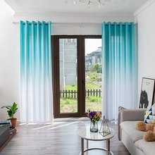 Living Room Privacy Curtains Simple Decorative Gradient Half Sun Shade