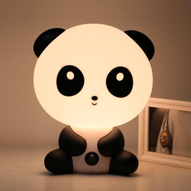 Creative Animal Model Night Lamp Panda Lamp Warm Plug In Night Lamp Valentine's Day Gift Bedroom Bedside Lamp