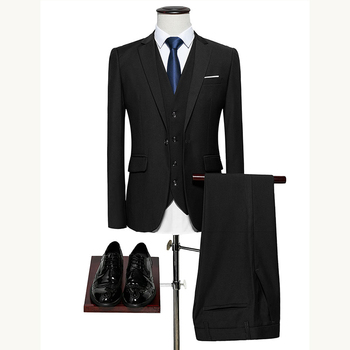 Men Suits 3 pieces slim fit Business Casual Offices Classic Male Blazer Groom's Wedding tuxedo Dress Suit