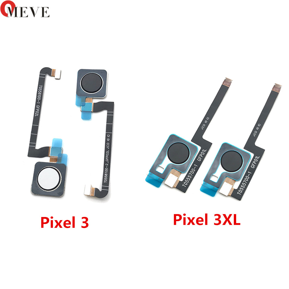 100% New Original Fingerprint Sensor Scanner Touch ID Home Button Return Flex Cable For Google Pixel 3 / 3XL