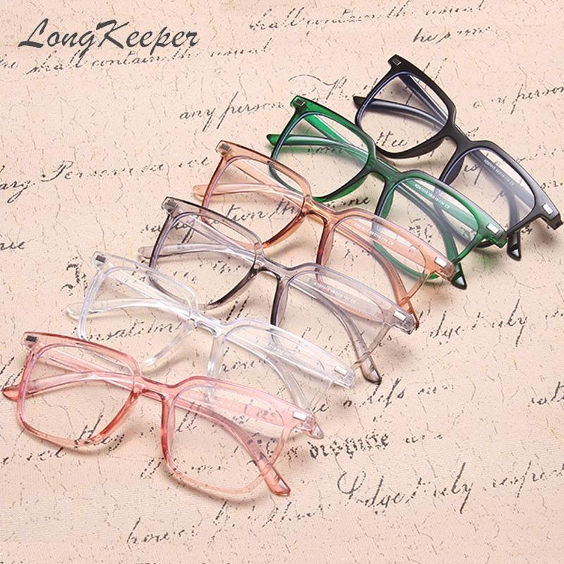 LongKeeper 2020 Fashion Brand Anti-blue Light Glasses Frame Womens Eyewear Men Square Vintage Eyeglasses Shades UV400